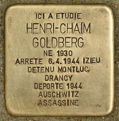 Lycée Lamartine - Deutsch: Stolperstein für Henri-Chaim Goldberg