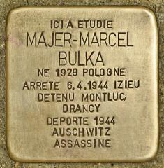 Lycée Lamartine - Deutsch: Stolperstein für Majer-Marcel Bulka