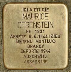 Lycée Lamartine - Deutsch: Stolperstein für Maurice Gerenstein
