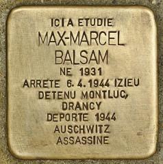 Lycée Lamartine - Deutsch: Stolperstein für Max-Marcel Balsam