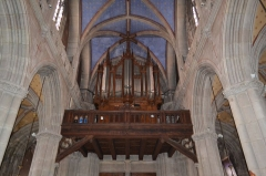 Place de la cathédrale Saint-Jean - English: Pipe organ of city of Belley cathedral, in Ain, France.