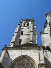 Ancienne abbaye de Brou - English: Church of Brou (Bourg-en-Bresse, Ain, France) - bell tower.