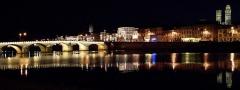 Pont Saint-Laurent, sur la Saône -  Maçon de nit