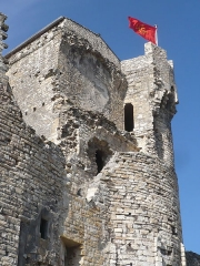 Château (ruines) - Deutsch: Château des Moines, Cruas, France