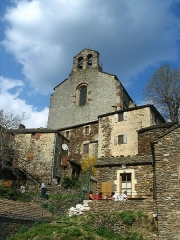 Eglise de Thines -  The church of the historical village Thines in the Thines valley in the Ardèche region, France