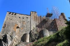 Château de Ventadour (restes) - Čeština: Pohled na hrad Château de Ventadour, Francie