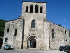 Eglise Notre-Dame de Prévenchères -  Face avant de Notre Dame de Prévenchère, à Montpezat-sous-Bauzon.