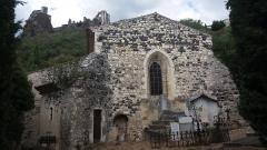 Chapelle Notre-Dame-des-Anges - Français:   Rochemaure - Chapelle Notre-Dame-des-Anges - façade est.