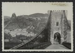 Pont de Rochemaure sur le Rhône - English:   1297 - LEFT