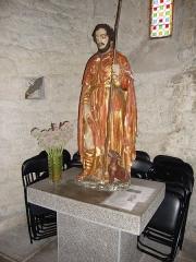 Eglise Saint-Pierre-aux-Liens - English: Ruoms (Ardèche, Fr) statue Saint Rochus.