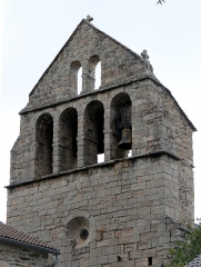 Eglise - Français:   Clocher de l\'église de Saint-André-Lachamp, Ardèche, France.