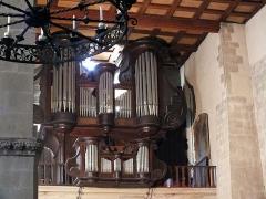 Eglise Saint-Julien - Deutsch:   Tournon-sur-Rhône, Kirche St Julien (Heiliger Julianus); Orgel