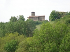 Eglise Saint-Etienne -  vue de l'église de Bathernay Drôme