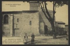 Eglise-temple - English: Eglise du Style Roman construite au XIe siècle et servant, grâce à une séparation, aux culte catholique et protestant; CA 1900