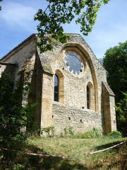 Abbaye cistercienne du Valcroissant - Deutsch: Kloster Valcroissant, Südfront des Refektoriums