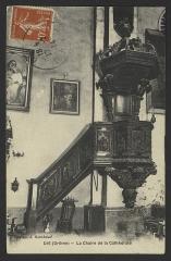 Ancienne cathédrale, actuellement Eglise Notre-Dame - English: Ancienne cathédrale de Die (Drôme, France); chaire à prêcher offerte par Mgr Pajot du Plouy, évêque du diocèse, en 1698; classée en tant qu'objet monument historique.