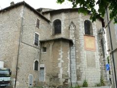Ancienne cathédrale, actuellement Eglise Notre-Dame - Français:   Cathédrale Notre-Dame de Die - Chevet
