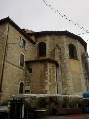 Ancienne cathédrale, actuellement Eglise Notre-Dame -  Drome Die Cathedrale Notre-Dame Chevet Le Marche 05072014