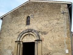 Prieuré -  portail d'entrée du prieuré de Manthes dans la Drôme