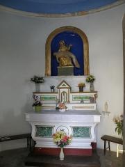 Chapelle Notre-Dame-du-Pont - English: Mollans-sur-Ouvèze (Drôme, France). Chapelle Notre-Dame-du-Pont ou Notre-Dame-de-la-Compassion, sur le bord de l'Ouvèze. Vue intérieure.