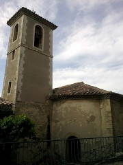 Eglise paroissiale -  Drome Mollans-Sur-Ouveze Eglise Clocher Chevet 05072014