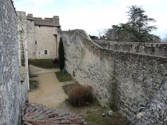 Château des Adhémar ou des Papes - Français:   Château des Adhémar: vue de la cour est depuis le rempart