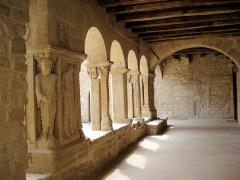 Eglise collégiale -  cloître de la Collégiale de Saint Donat dans la Drôme