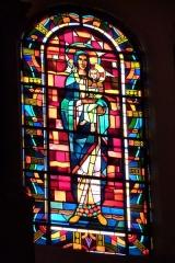 Eglise Saint-Jean - Deutsch: Bleiglasfenster in der Kirche Saint-Jean-Baptiste in Valence, Darstellung: Madonna und Kind, Signatur: