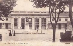 Gare - Français:   Carte postale ancienne éditée par LL, n°24 : VALENCE - La Gare