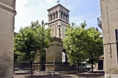 Pendentif - Français:   Le Pendentif et le clocher de la cathédrale Saint-Apollinaire de Valence, Drôme, France