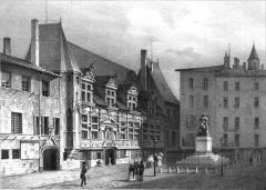 Palais de Justice - Album du Dauphiné - tome IV, litographie de Palais de Justice, Place St André, Grenoble