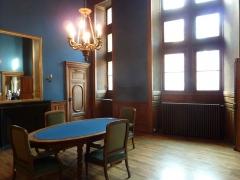 Palais de Justice - Bureau bleu, ancien palais de justice, ancien palais du parlement du Dauphiné, Grenoble, France.