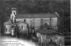 Eglise Saint-Pierre -  église de Marnans, MH datant du Xe siècle, en 1911
