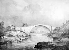 Vieux pont sur le Drac (également sur commune de Claix) - French painter, illustrator, photographer and lithographer