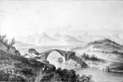 Vieux pont sur le Drac (également sur commune de Claix) - French artist