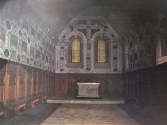 Monastère de la Grande-Chartreuse - La nef de Notre-Dame de Casalibus, Saint-Pierre-de-Chartreuse, Isère, France.