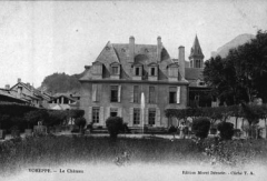 Château de Siéyès - Italiano:   château de Siéyès, à Voreppe, carte postale du début du XX siècle.