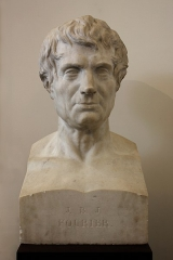 Ancien évêché - English: Bust of Joseph Fourier in the former bishop's palace museum in Grenoble. Marble scultpure by Pierre-Alphonse Fessard (1768-1830), 1839. Collection of the Musée Dauphinois.