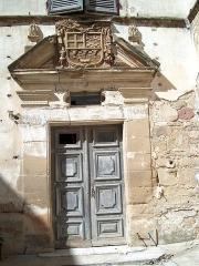 Château de l'Arthaudière -  Château de l'Arthaudière à St Bonnet de Chavagne (Isère) Porte principale de l'aile nord  Photo prise par Daniel Etienne