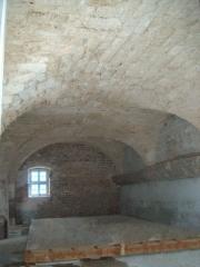 Château de l'Arthaudière -  Château de l'Arthaudière à St Bonnet de Chavagne (Isère) Vue intérieure des écuries  Photo prise par Daniel Etienne