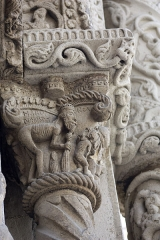 Eglise -  The king of Babylon, Nebuchadnezzar, destroying columns of temples of pushing the Jews into slavery.