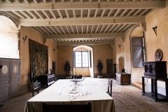 Château des Talaru - English: Room of justice at Chateau de chalmazel,  (Marcilly Talaru), Rhône-Alpes, France