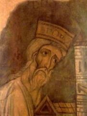 Abbaye de Charlieu - English: Fresco of Boso van Provence.