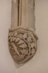 Eglise Saint-Philibert - Deutsch: Konsole in der Kirche Saint Philibert in Charlieu