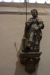 Eglise Saint-Philibert - Deutsch: Statue des heiligen Rochus in der Kirche Saint-Philibert in Charlieu