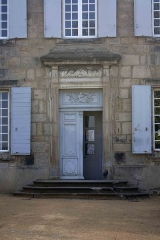 Château des Bruneaux - English:  Doorway of the Castle of the Bruneaux, end of the 18th century.
