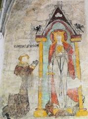 Eglise Notre-Dame - Français:   Montbrison - Collégiale Notre-Dame d\'Espérance - Peinture murale