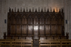 Eglise Notre-Dame - English:  Stalls of the choir.