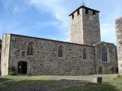 Eglise, ancien prieuré et remparts - English: Montverdun (Loire, Fr), south side of the church.