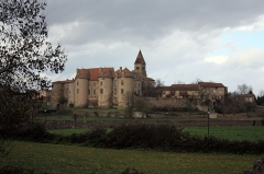 Prieuré - English: The Benedictine priory, founded about 825, fortified at the fifteenth century, restored in this state in the eighteenth<.